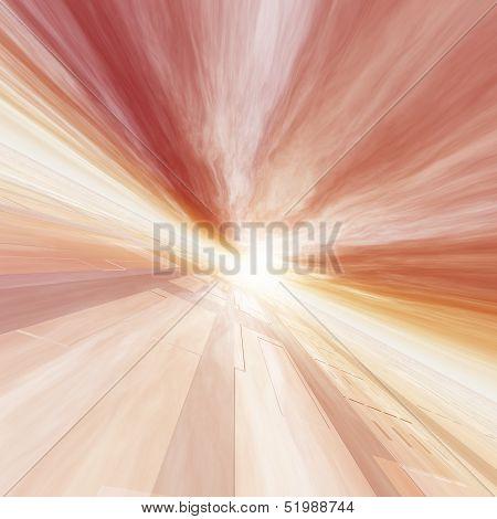Red Horizon Point Grid Sun