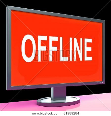 Offline Screen Shows Internet Communication Status Disconnected