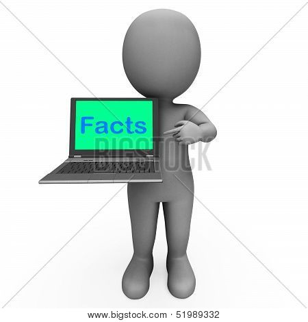 Facts Character Laptop Shows Honesty Data And Knowledge