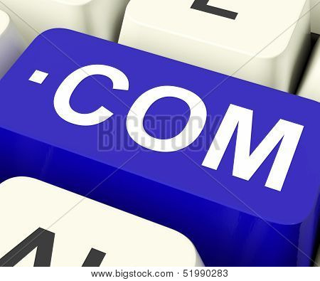 Com Keys Means Web Domain Name.