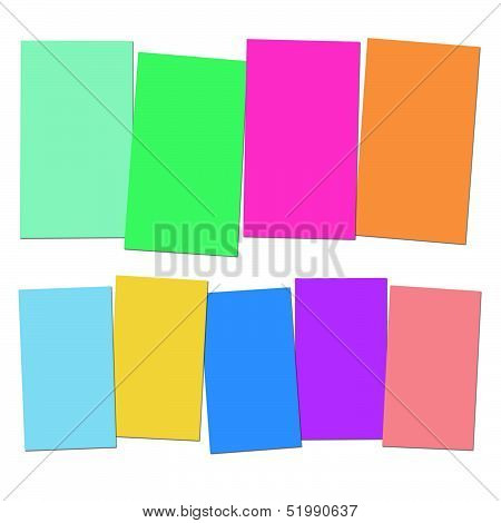 Four And Five Blank Paper Slips Show Copyspace For 4 Or 5 Letter Words