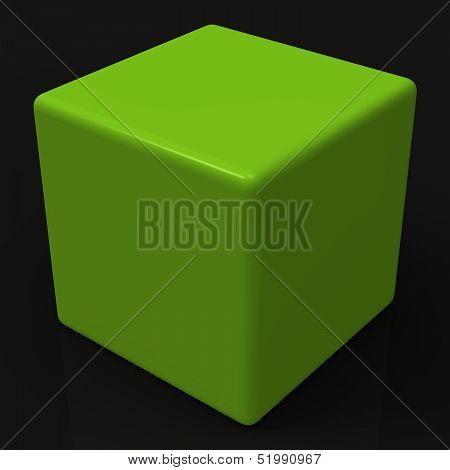 Blank Green Dice Shows Copyspace Cube Or Box