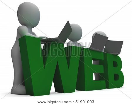 Web Word Shows World Wide Web