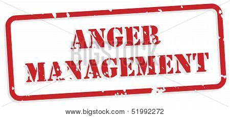 Anger Management Rubber Stamp