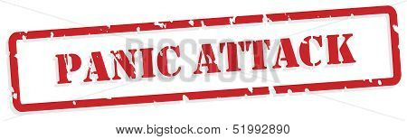 Panic Attack Rubber Stamp