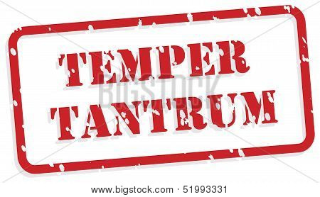 Temper Tantrum Rubber Stamp