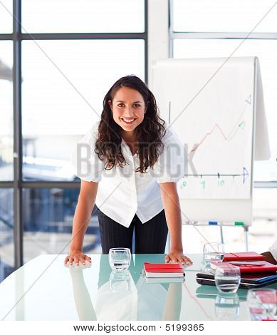 Confident Businesswoman Looking At The Camera
