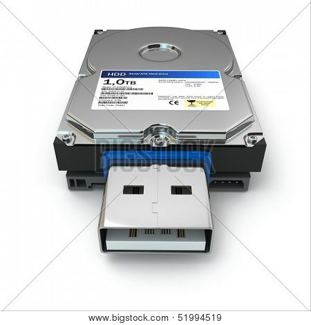 Usb file back up external hard drive. 3d
