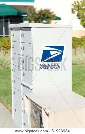 Sacramento, Usa - September 23: Usps Street Box On September 23, 2013 In Sacramento, California.