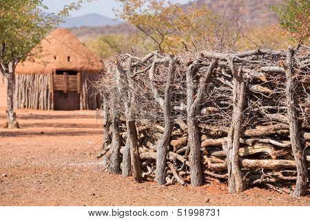Traditional huts of himba people