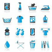 picture of laundromat  - Washing machine and laundry icons  - JPG