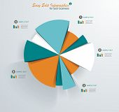 stock photo of pie  - Business pie chart for documents and reports for documents reports graph infographic business plan education - JPG