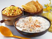 stock photo of bangla  - Delicious Mix Chat including chic peas - JPG