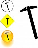 t-square or parallel ruler symbol