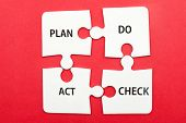 stock photo of plan-do-check-act  - Business workflow concept of plan do check and act - JPG