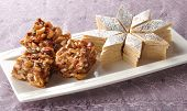 stock photo of barfi  - A delicious and famous sweet food (Kaju Katli) ** Note: Shallow depth of field - JPG