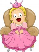 image of toddlers tiaras  - Illustration of a Cute Little Girl Dressed in a Princess Costume - JPG