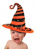 stock photo of witch  - Crying baby - JPG