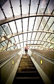 picture of escalator  - Escalator going up in London - JPG