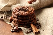 foto of sackcloth  - Homemade cookies with sesame seeds - JPG