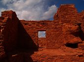 foto of pueblo  - Wupatki pueblo Indian ruins taken at the Wupatki National Monument north of Flagstaff - JPG