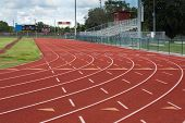 stock photo of perseverance  - This track and field facility is a symbol of the importance of sports and athletics as an instrument in preparing students for the future - JPG