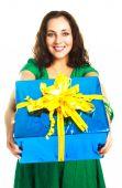 Постер, плакат: Девушка давая нам подарок