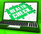 Health Check Laptop Shows Medical Condition Examinations Online