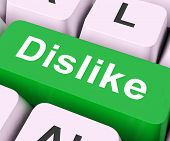 image of disapproval  - Dislike Key On Keyboard Meaning Hate Disapprove Or Loathe - JPG