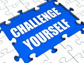 Challenge Yourself Puzzle Shows Motivation Goals And Determination