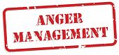stock photo of anger  - Anger management red rubber stamp vector for mental health concept - JPG