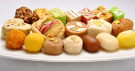 stock photo of mithai  - A group of delicious - JPG