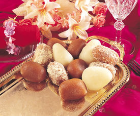 picture of mithai  - A group of three delicious - JPG