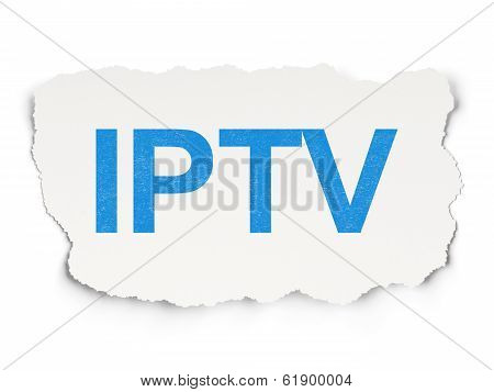 Web design concept: IPTV on Paper background