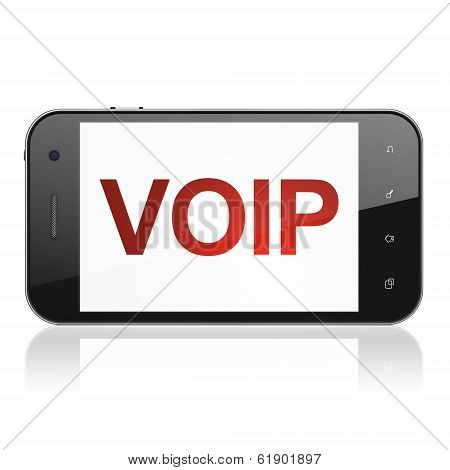 Web design concept: VOIP on smartphone