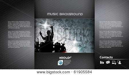 Disco party background. Vector