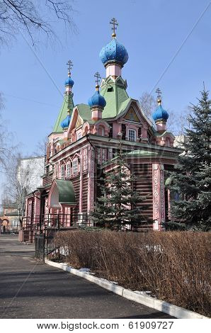 Wooden Orthodox Church In The Spring.