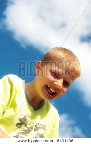 Ten Year Old Boy Laughing