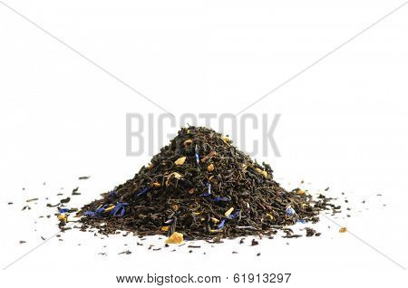 Black tea scented with oil of bergamot, lemon and orange peel, and cornflower