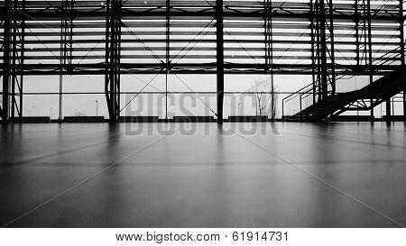 Travelers walking in airport terminal