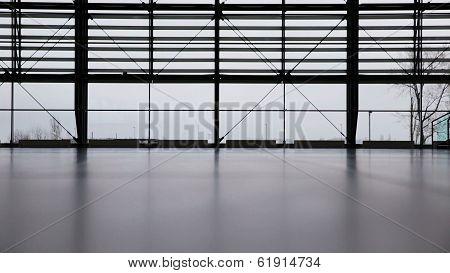 Woman in airport terminal