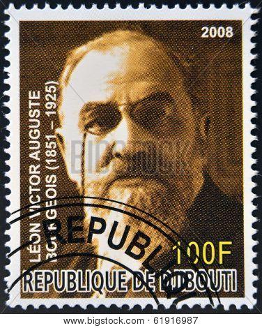 DJIBOUTI - CIRCA 2008: stamp printed in Djibouti shows Leon Bourgeois