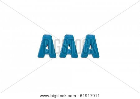 Letter magnets AAA isolated on white