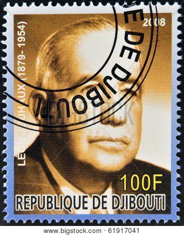 DJIBOUTI - CIRCA 2008: stamp printed in Djibouti shows Leon Jouhaux