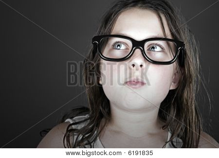 Funny Shot Of A Cute Child Geek