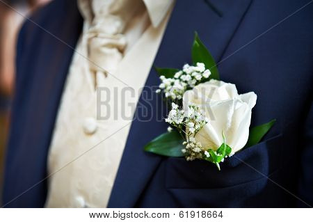 Boutonniere For The Groom Dress