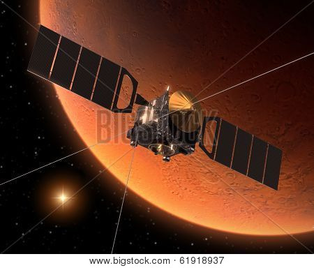 Spacecraft Orbiting Mars