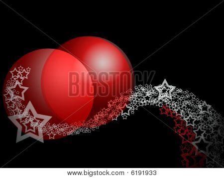 Christmas Fantasy Elegant Abstract Ornament