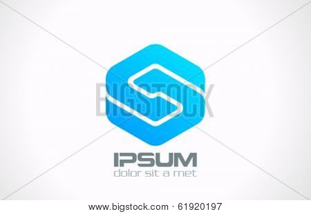 Business Technology abstract vector logo design template. Infinity Loop icon. Letter S emblem symbol. Creative corporate concept.