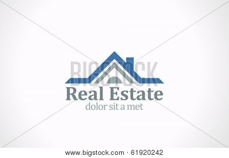 Real Estate vector logo design template. House abstract concept icon. Realty construction architecture symbol.